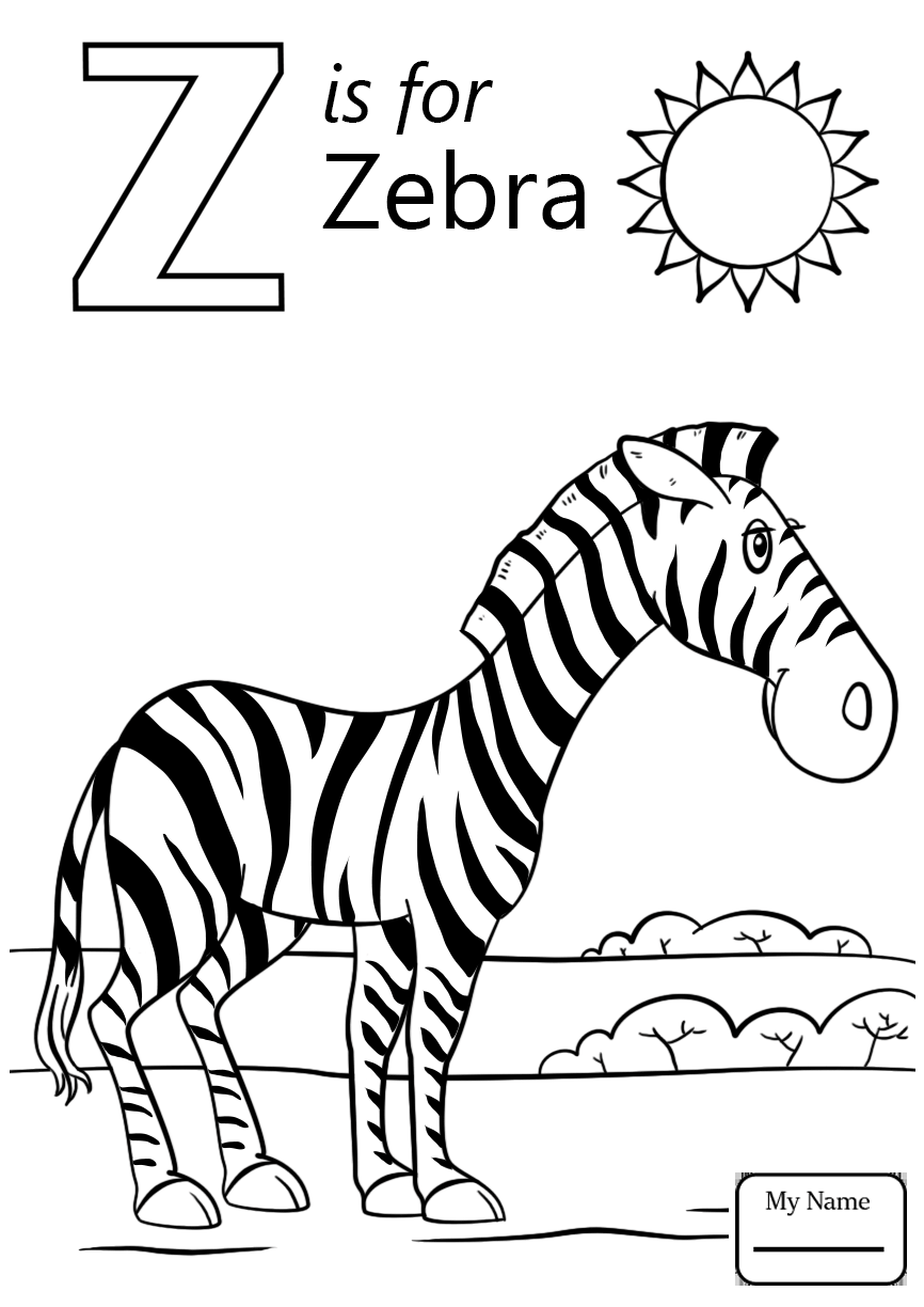 Letter Z Coloring Page At Getdrawings Com Free For