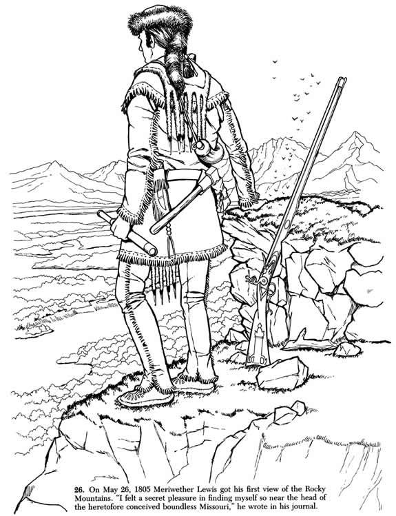 Lewis And Clark Coloring Pages Printable
