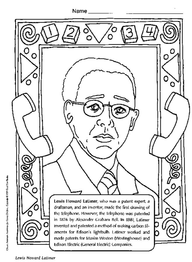 658x900 Famous African Americans Coloring Simple African American Coloring
