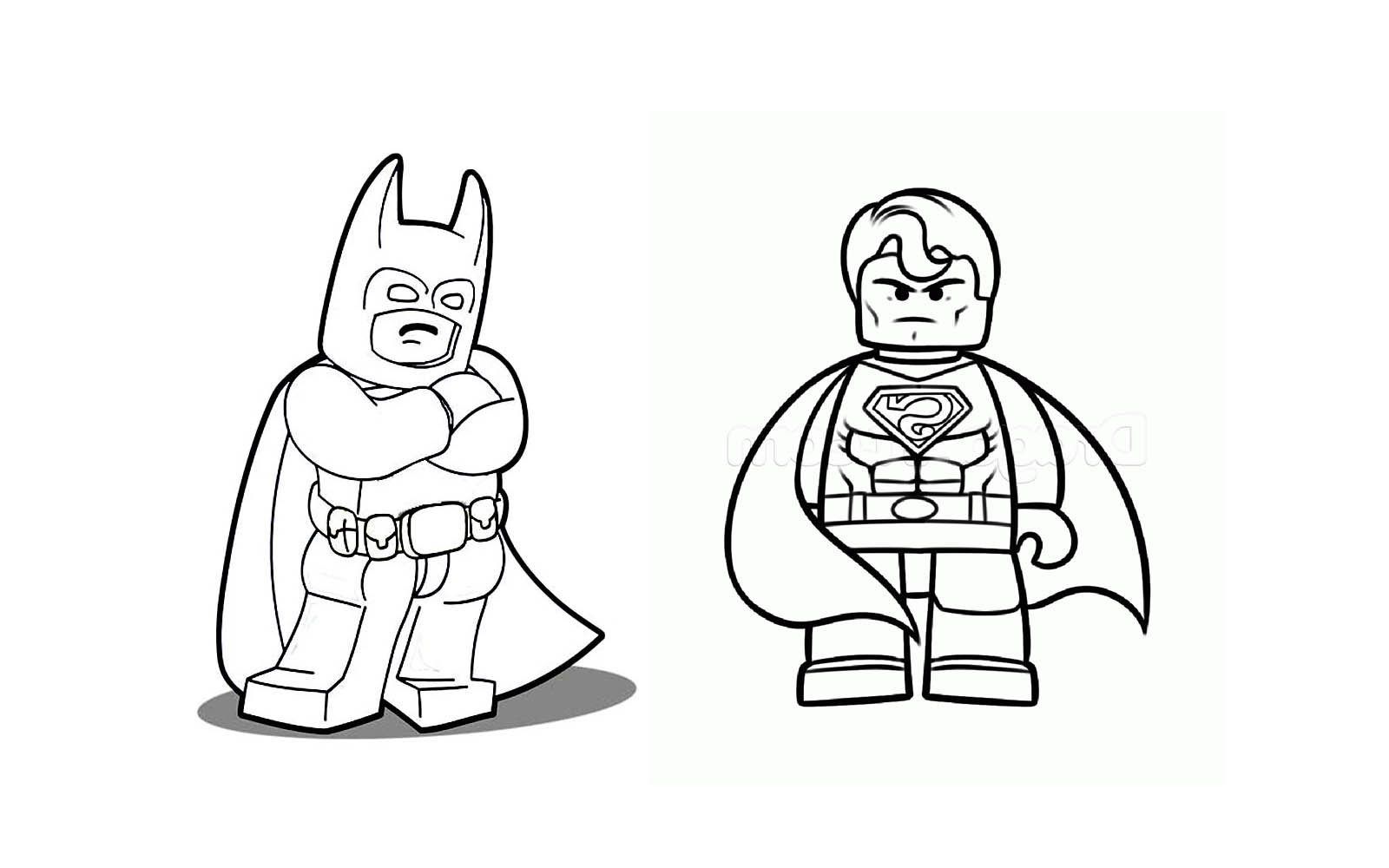 1600x1000 Lego Batman And Superman With Green Lantern Coloring Book
