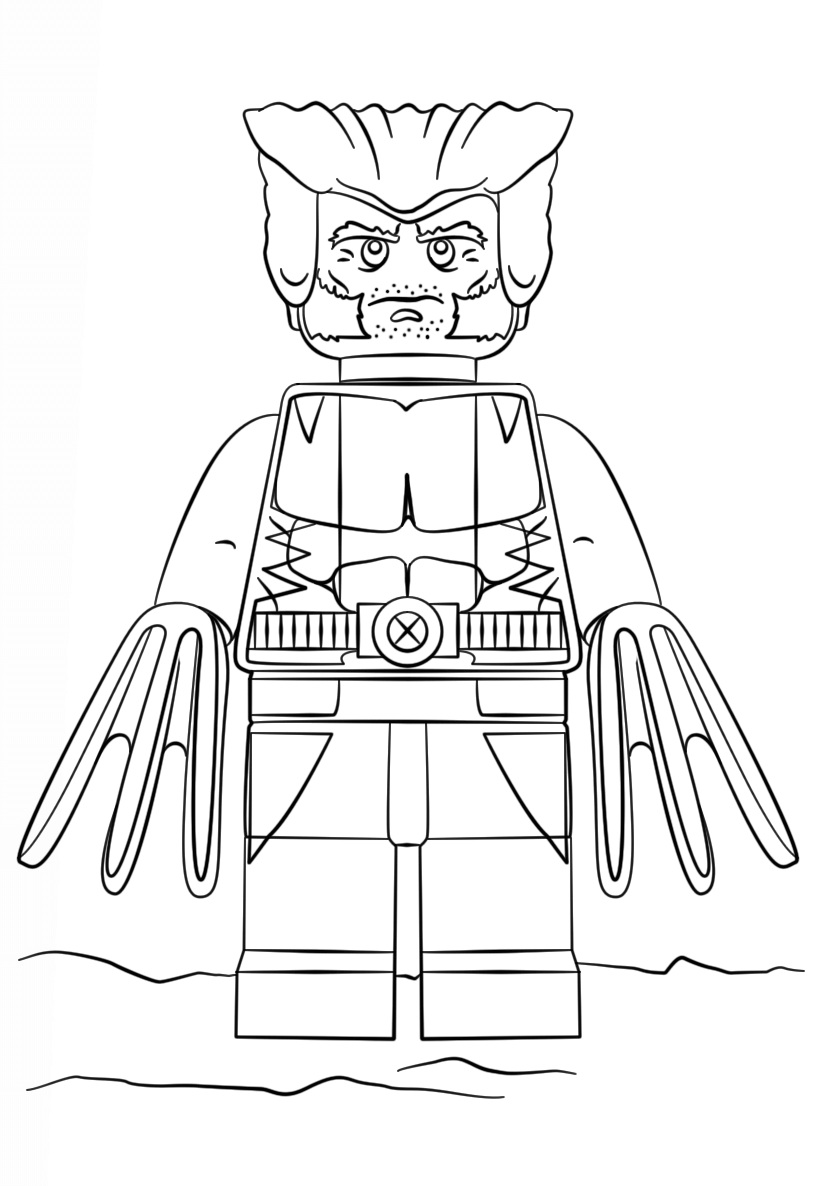 824x1186 Lego Super Heroes Lex Luthor Coloring Page