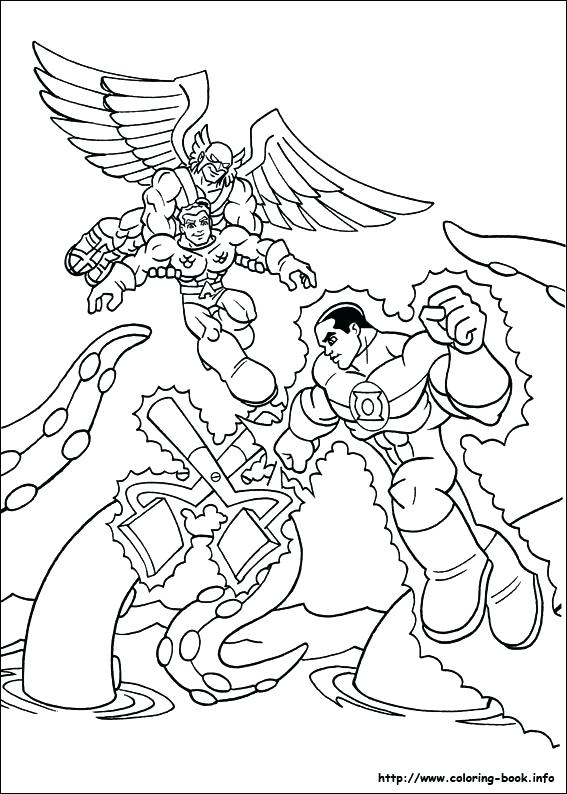 567x794 Super Friends Coloring Sheets Pages On Dc Comics
