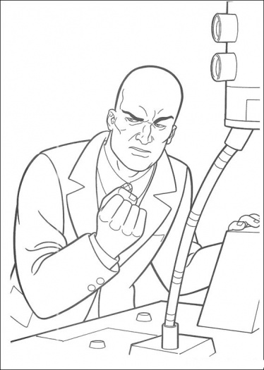 374x525 Superman's Enemy Coloring Pages