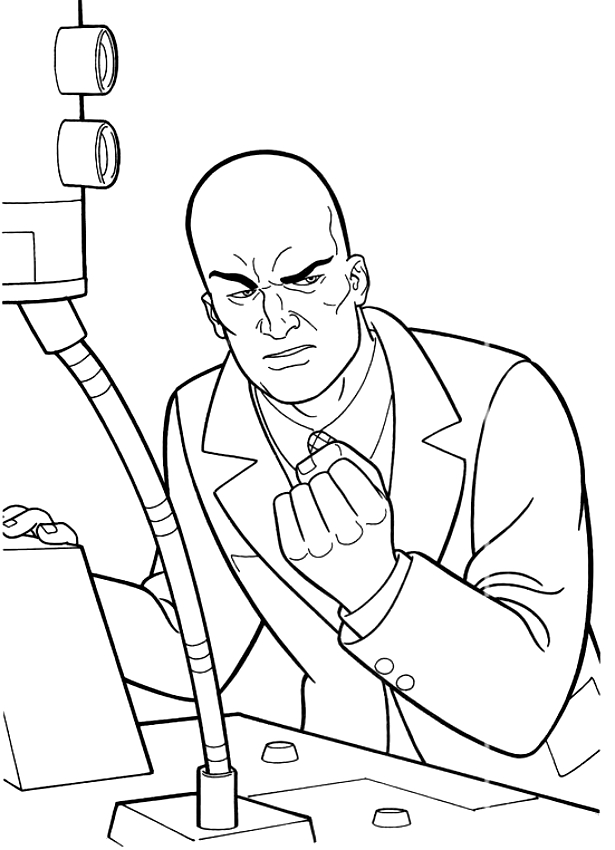 615x850 Drawing Lex Luthor The Enemy Of Superman Coloring Page