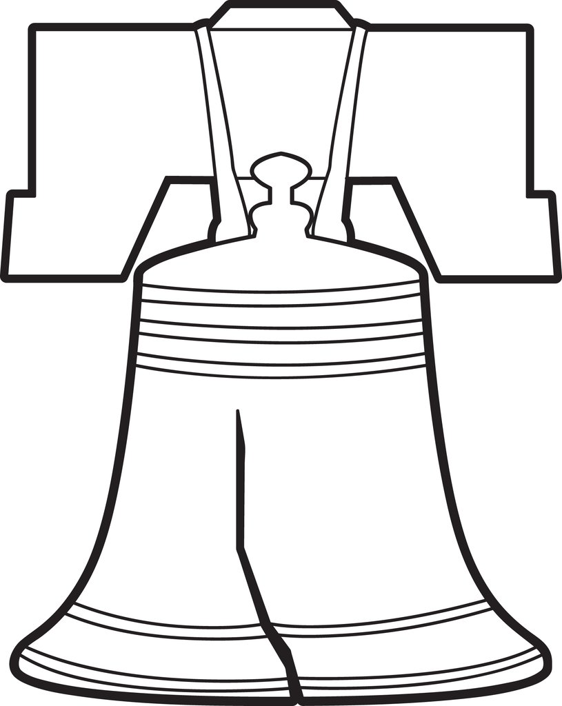 815x1024 Free, Printable Liberty Bell Coloring Page For Kids Supplyme