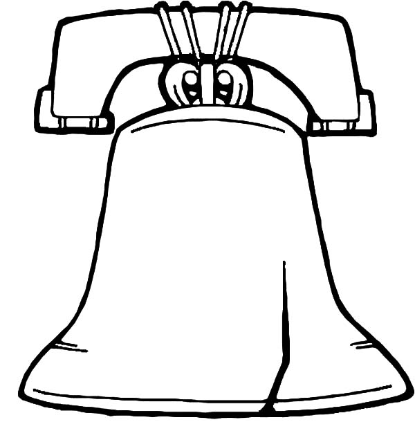 600x610 Liberty Bell Coloring Page