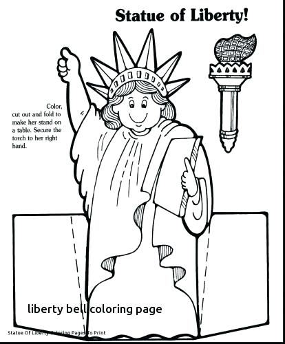 414x500 Liberty Bell Coloring Page Coloring Page Liberty Bell Coloring