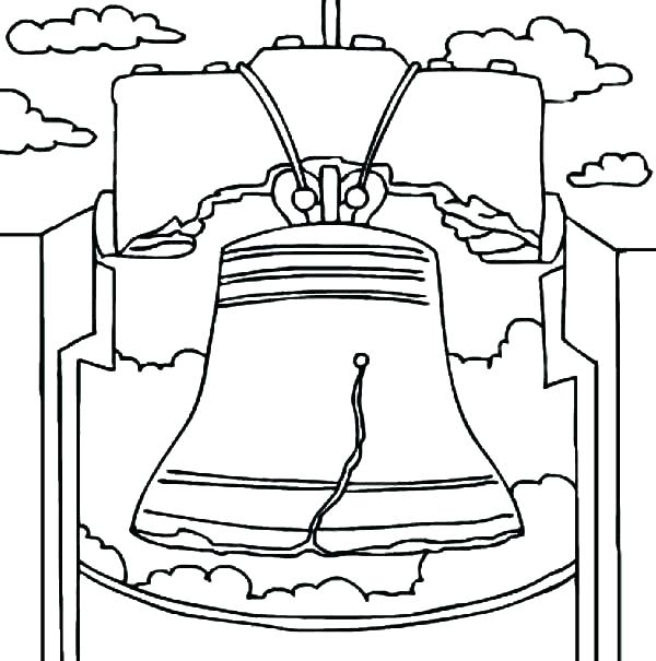 600x605 Bell Coloring Page Bell Coloring Pages Free Printable Bells Free