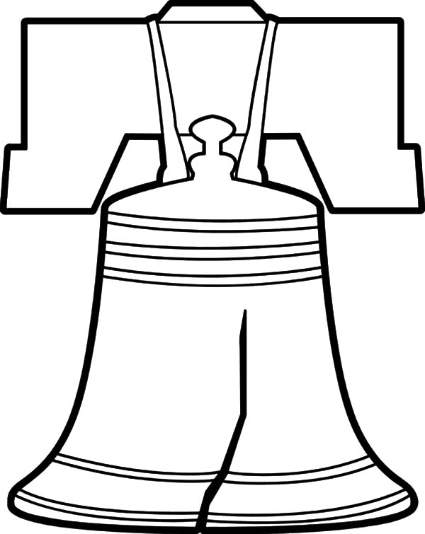 600x755 Liberty Bell Coloring Page