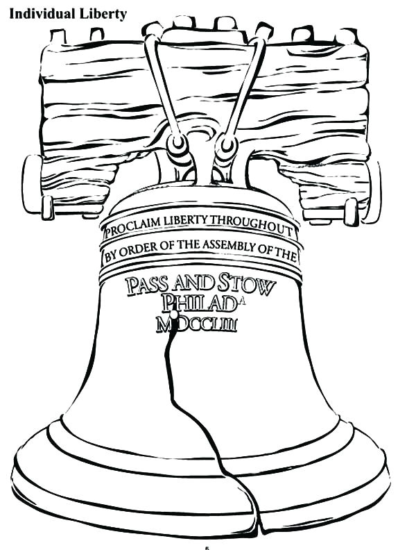 600x792 Lovely Liberty Bell Coloring Page Coloring Ws