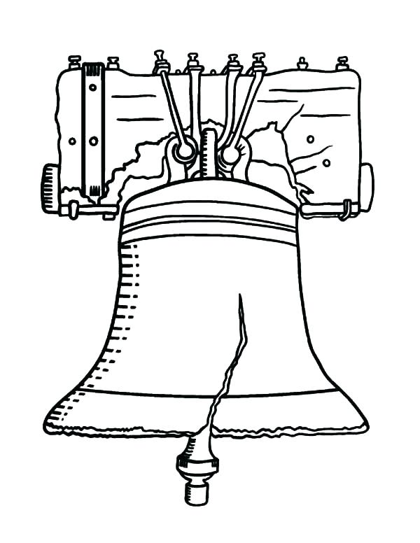 600x776 Pennsylvania Coloring Pages Coloring Pages Liberty Bell