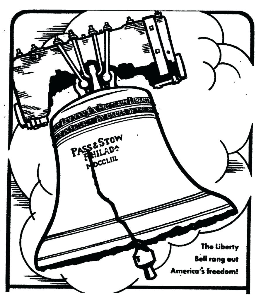 891x1024 Spotlight Liberty Bell Coloring Page