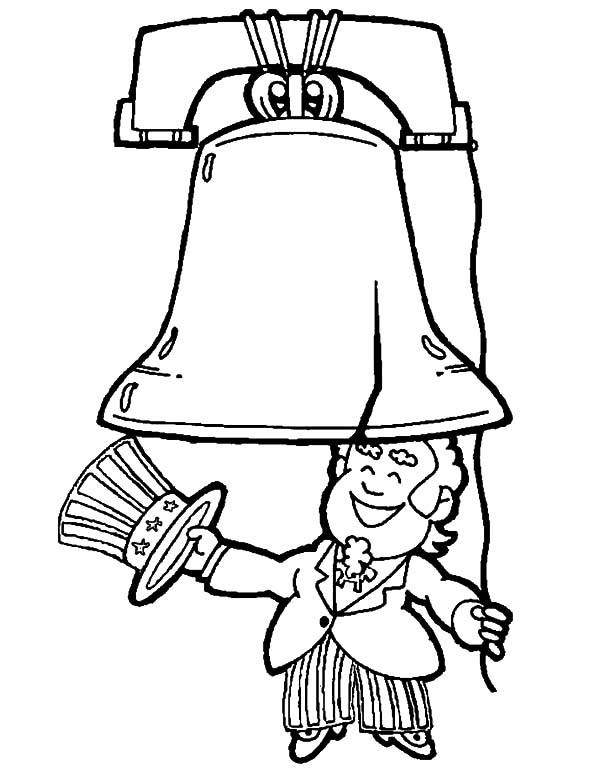 600x776 Uncle Sam Start To Ring The Liberty Bell Coloring Pages Batch