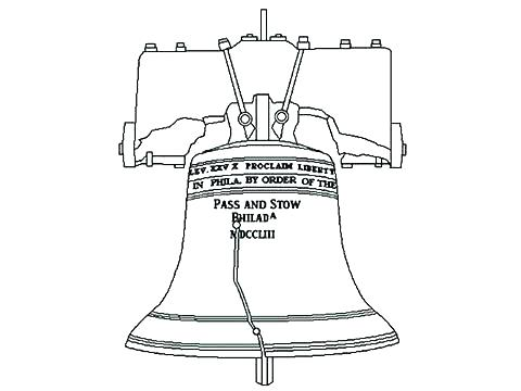 480x360 Bell Coloring Page Drawing Liberty Bell Coloring Pages Free