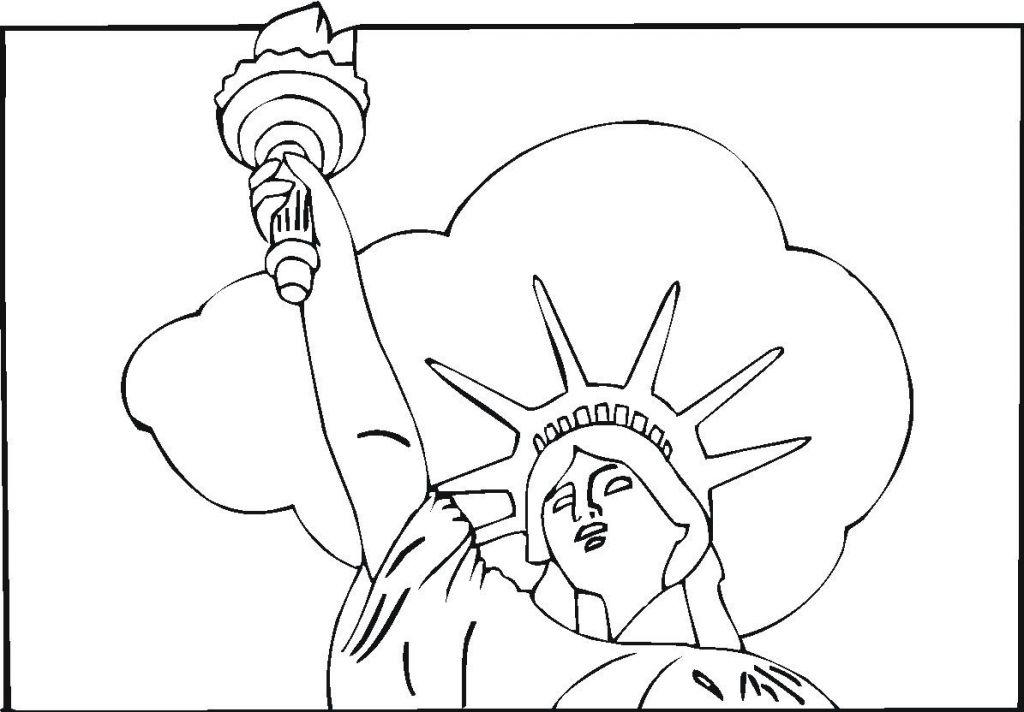 1024x712 Statue Liberty Coloring Pages Skat Bebo Pandco