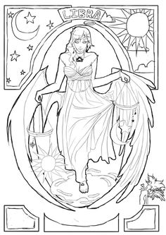 236x333 Free Printable Libra Adult Coloring Page Download It In Pdf
