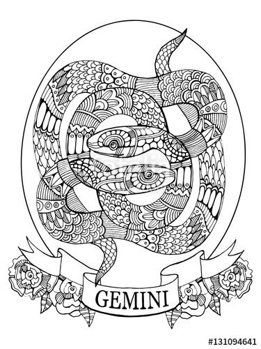 375x500 Virgo Zodiac Sign Coloring Page For Adults Fotolia