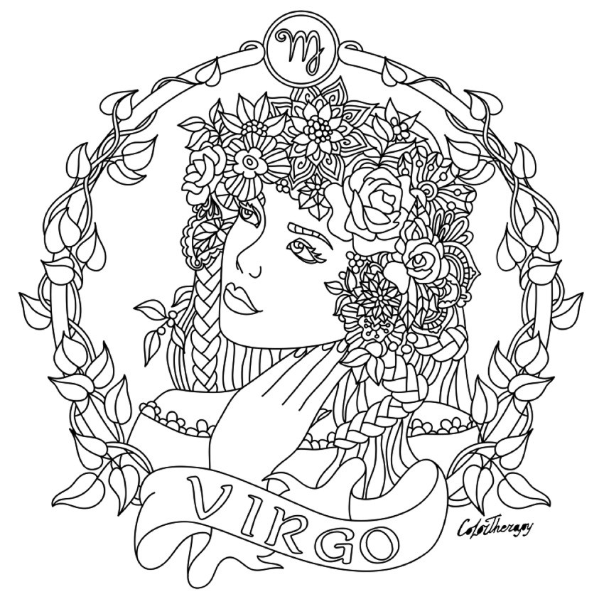 850x850 Zodiac Coloring Pages Unique Zodiac Signs Libra