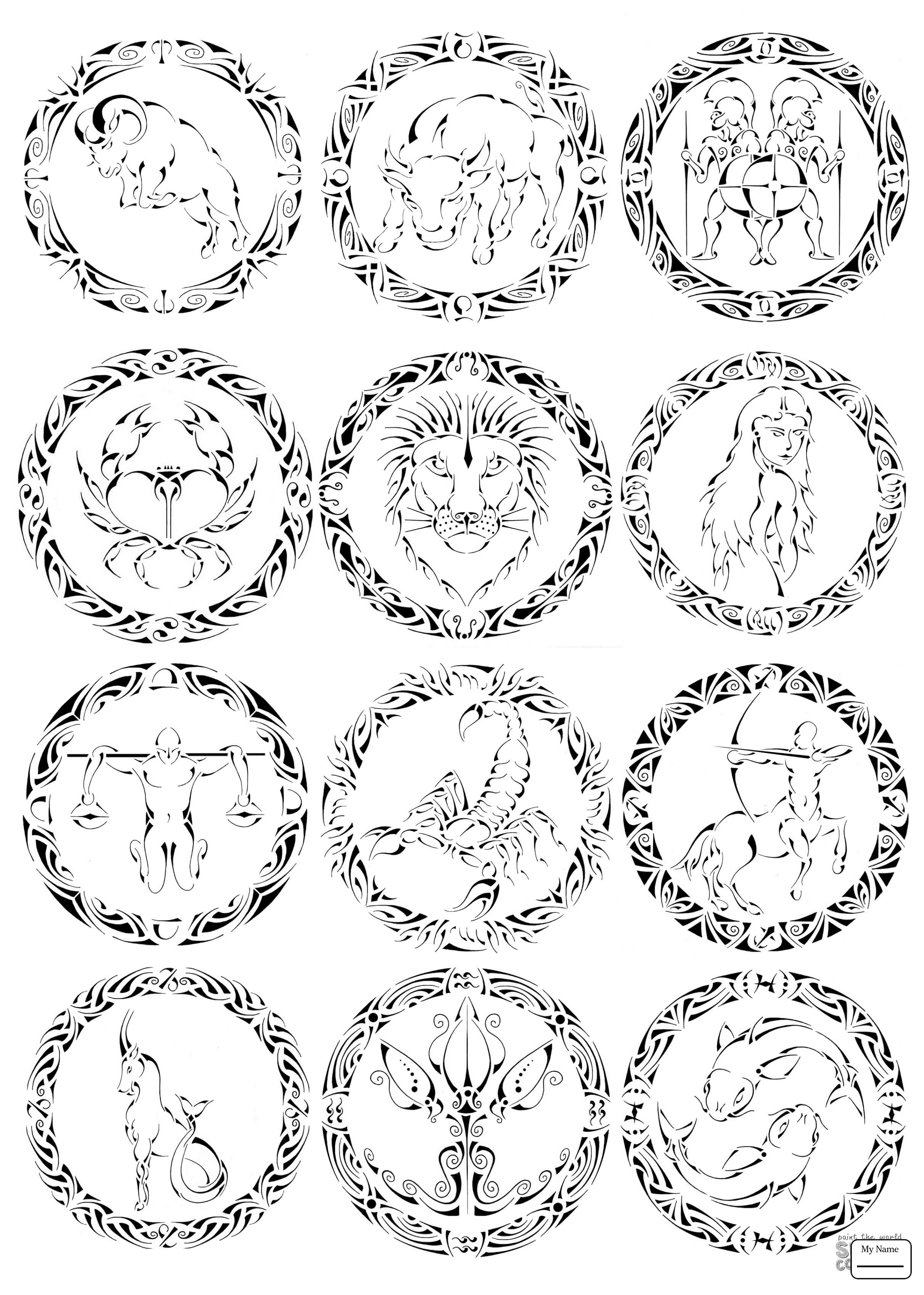 2423x3392 Coloring Pages For Kids Fantasy Mythology Pisces Zodiac Sign