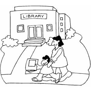 300x300 Library Coloring Page