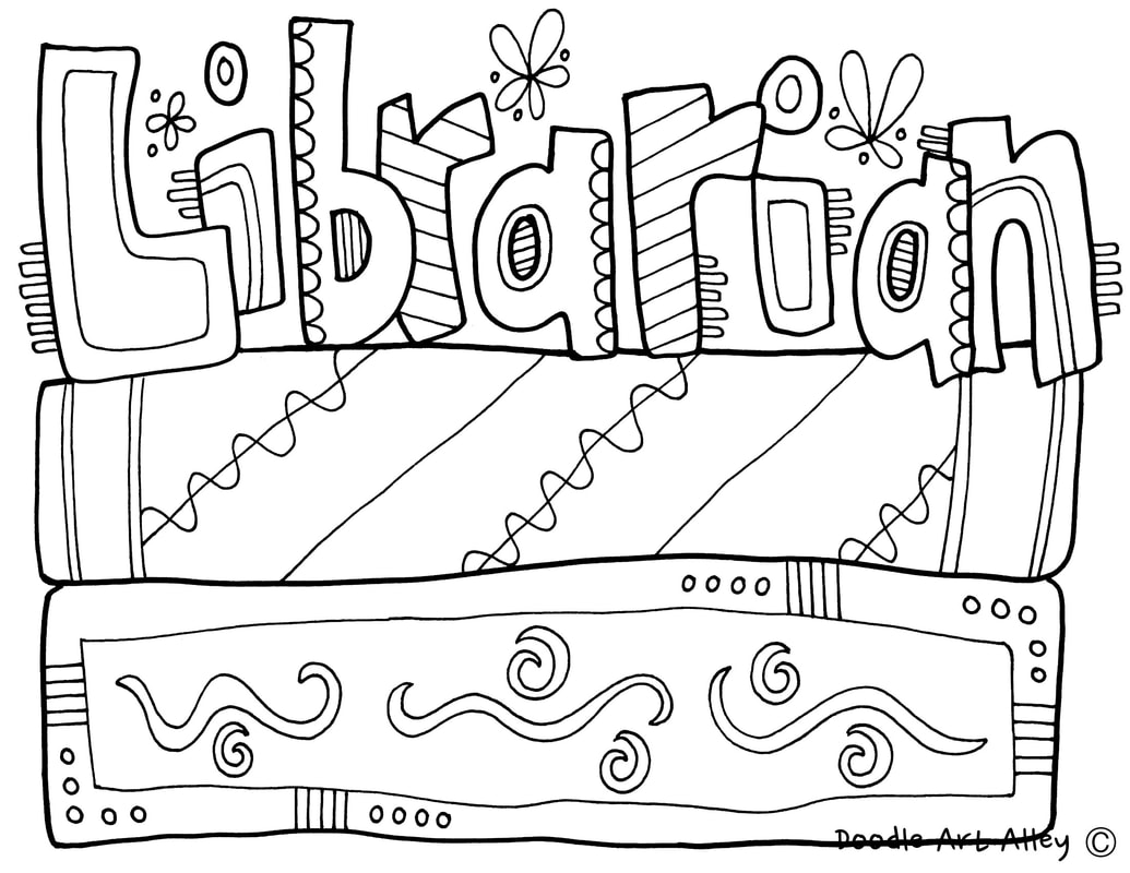1035x800 Library Coloring Pages Classroom Doodles