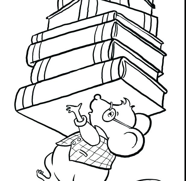 618x600 Library Coloring Pages Printables Library Book Colouring Pages