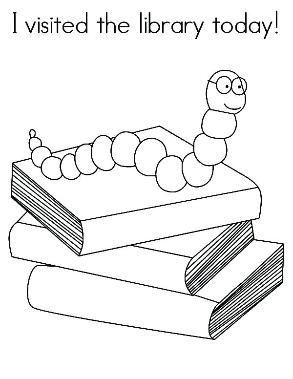600x776 Library Coloring Pages Printables Library Coloring Page Coloring