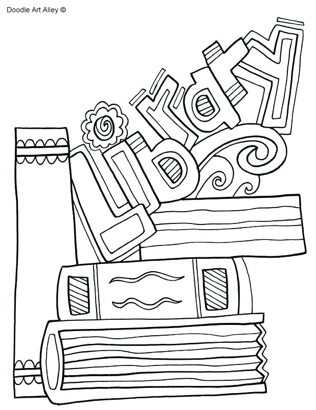 618x800 Library Coloring Pages Printables Library Coloring Page Library