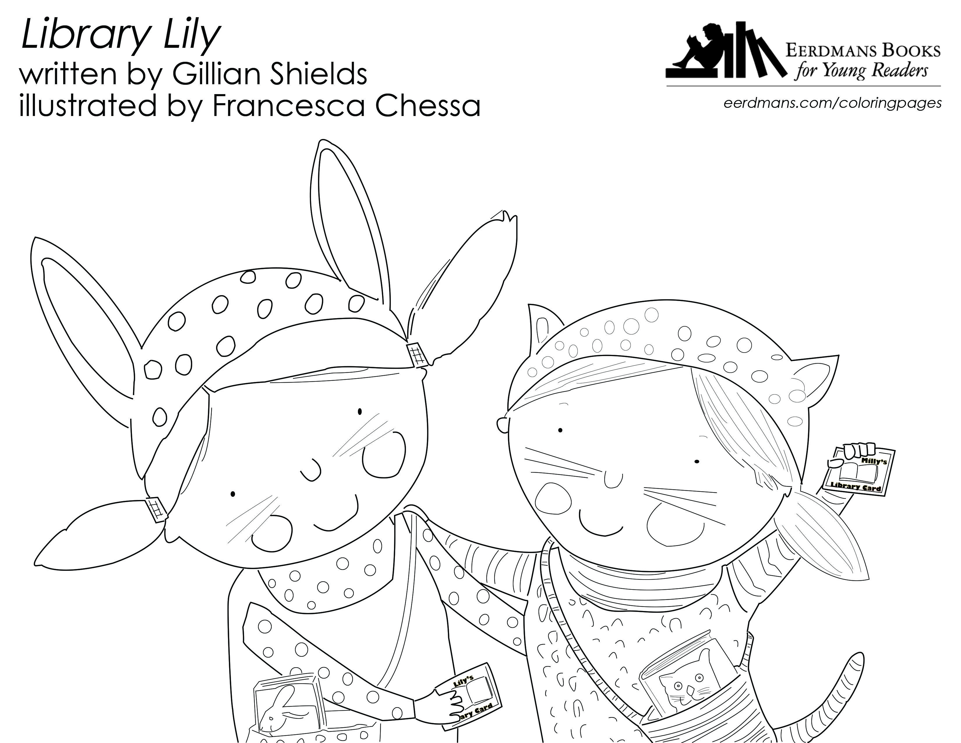 3300x2550 Library Lily Coloring Page Free Printable! Young Artists