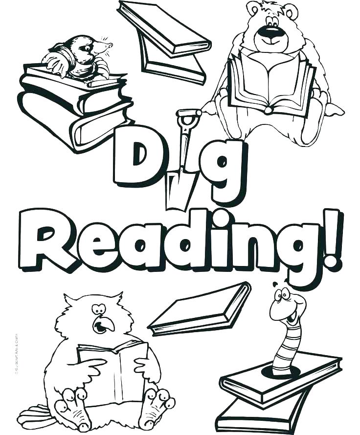 736x888 Library Coloring Sheets