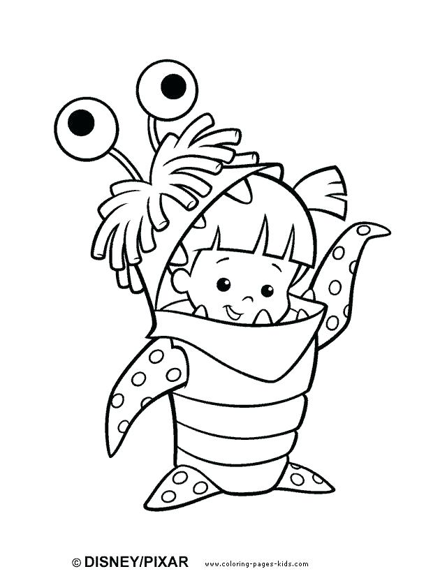 640x835 Plate Coloring Page Coloring Pages Cartoon Monsters Inc Color Page
