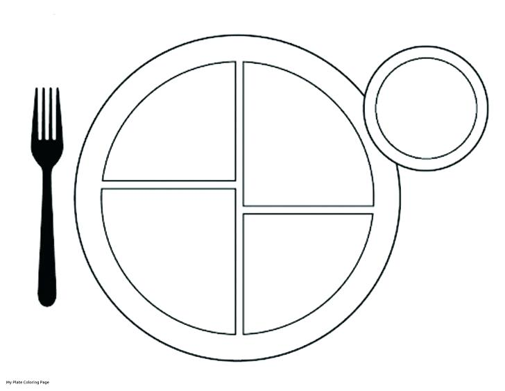 728x563 Plate Coloring Page Medium Size Of My Plate Coloring Page