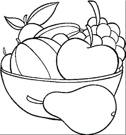 477x512 Plate Coloring Page Plate Coloring Page Food Fruit My Plate