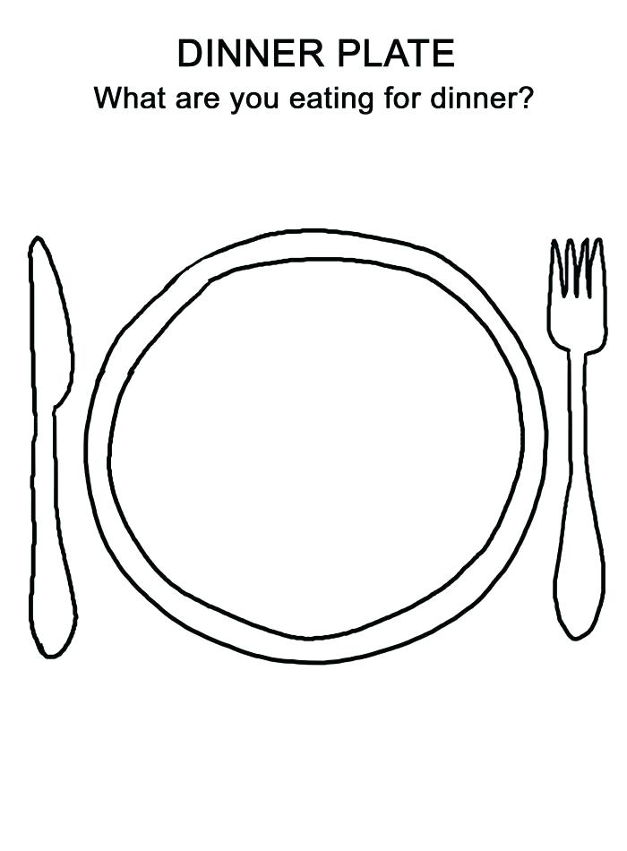 700x950 Dinner Coloring Pages Thanksgiving Dinner Plate Coloring Page