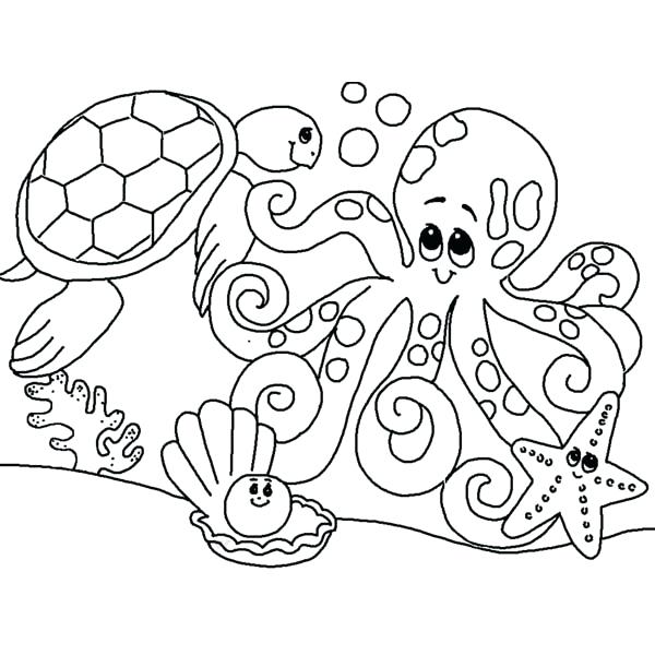 600x600 Marine Coloring Page Lovely Ocean Animals Coloring Pages