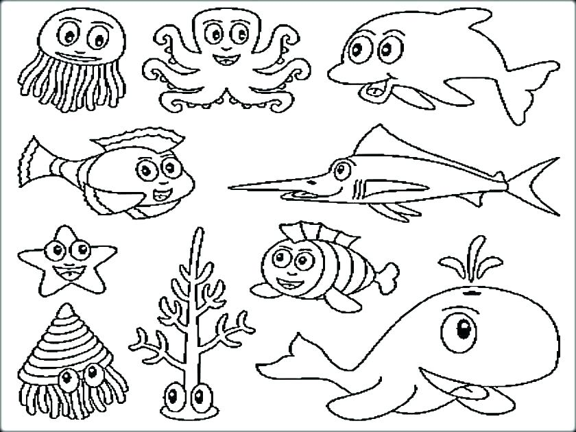 840x630 Realistic Ocean Life Coloring Pages View Larger Page Sea Animals