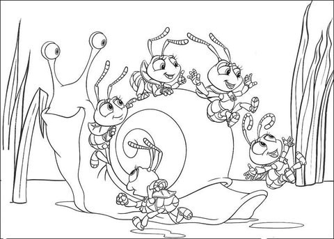 480x343 A Bug's Life Coloring Pages