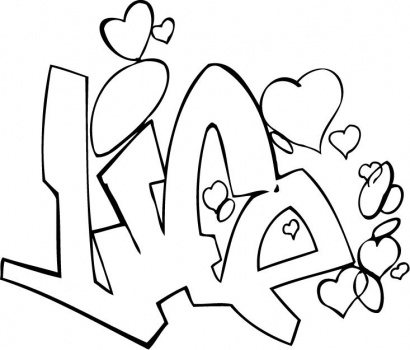 410x350 Graffiti Coloring Pages Coloringpagehub