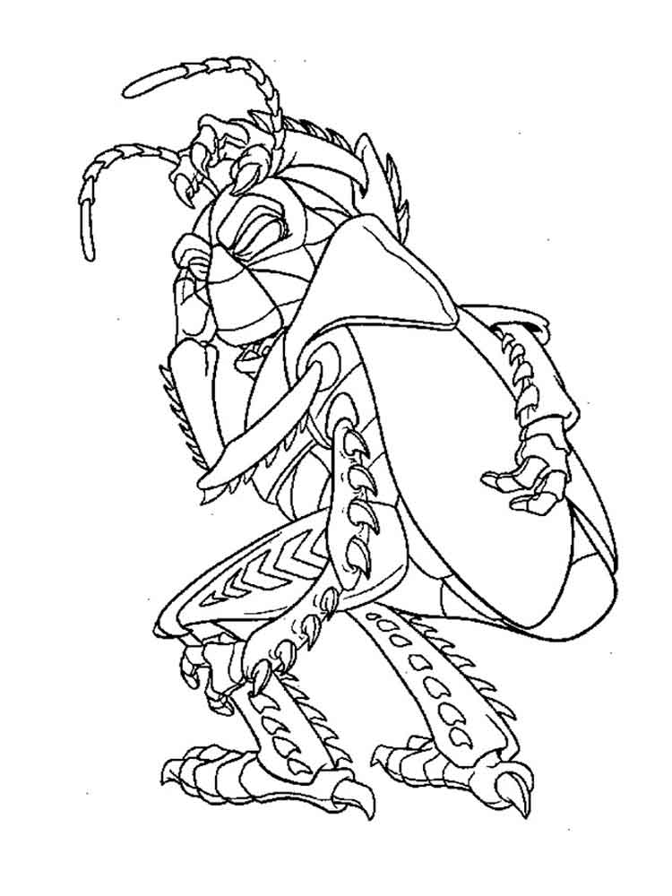 750x1000 A Bug's Life Coloring Pages Download And Print A Bug's Life