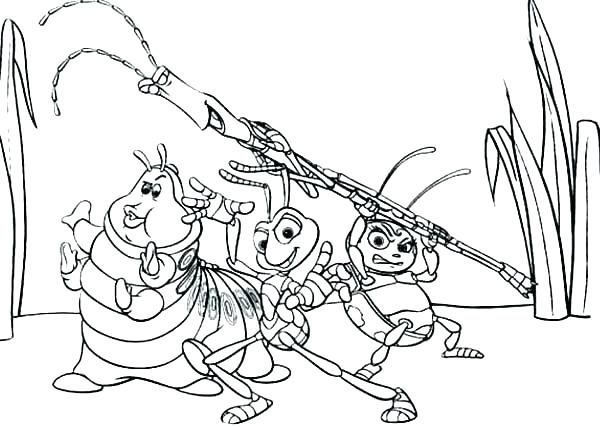 600x427 Bugs Life Coloring Pages