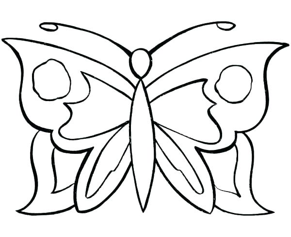 600x490 Coloring Pages Butterfly Coloring Page Of A Butterfly Butterfly