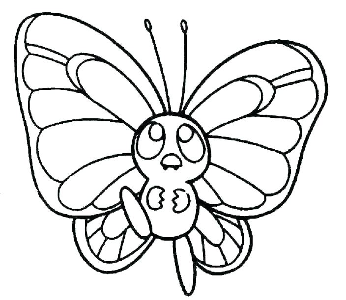 704x611 Butterfly Coloring Pages For Kids Butterfly Life Cycle Coloring