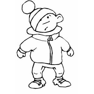 300x300 Boy Wearing Jacket Coloring Sheet