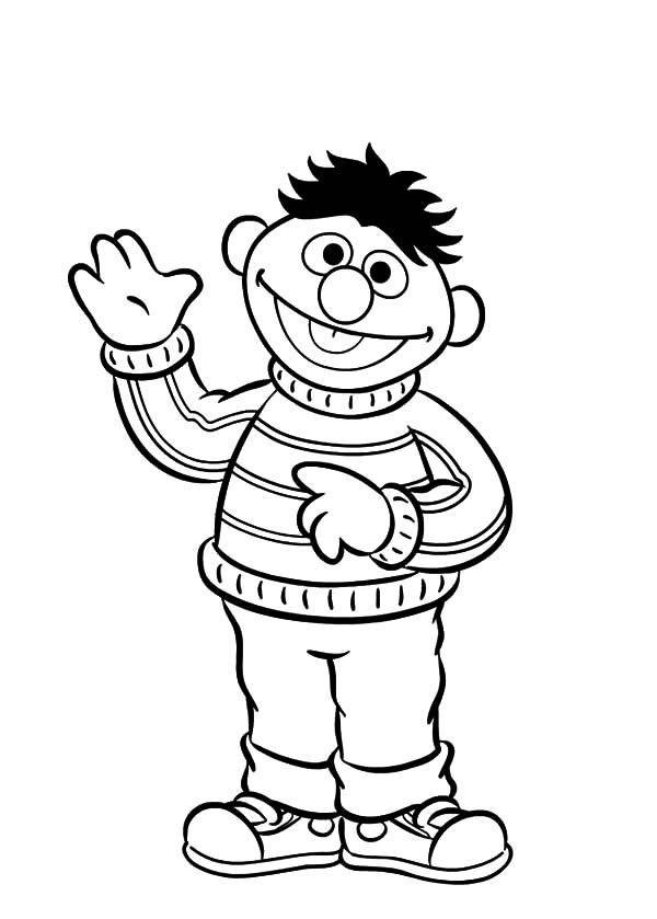 600x839 Ernie Coloring Pages