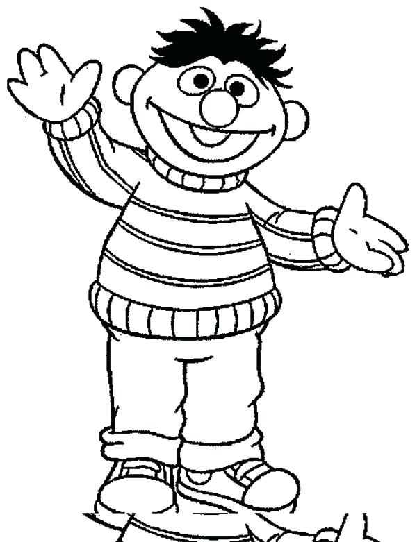 600x781 Ernie Coloring Pages Coloring Pages Drawing Coloring Pages Bert