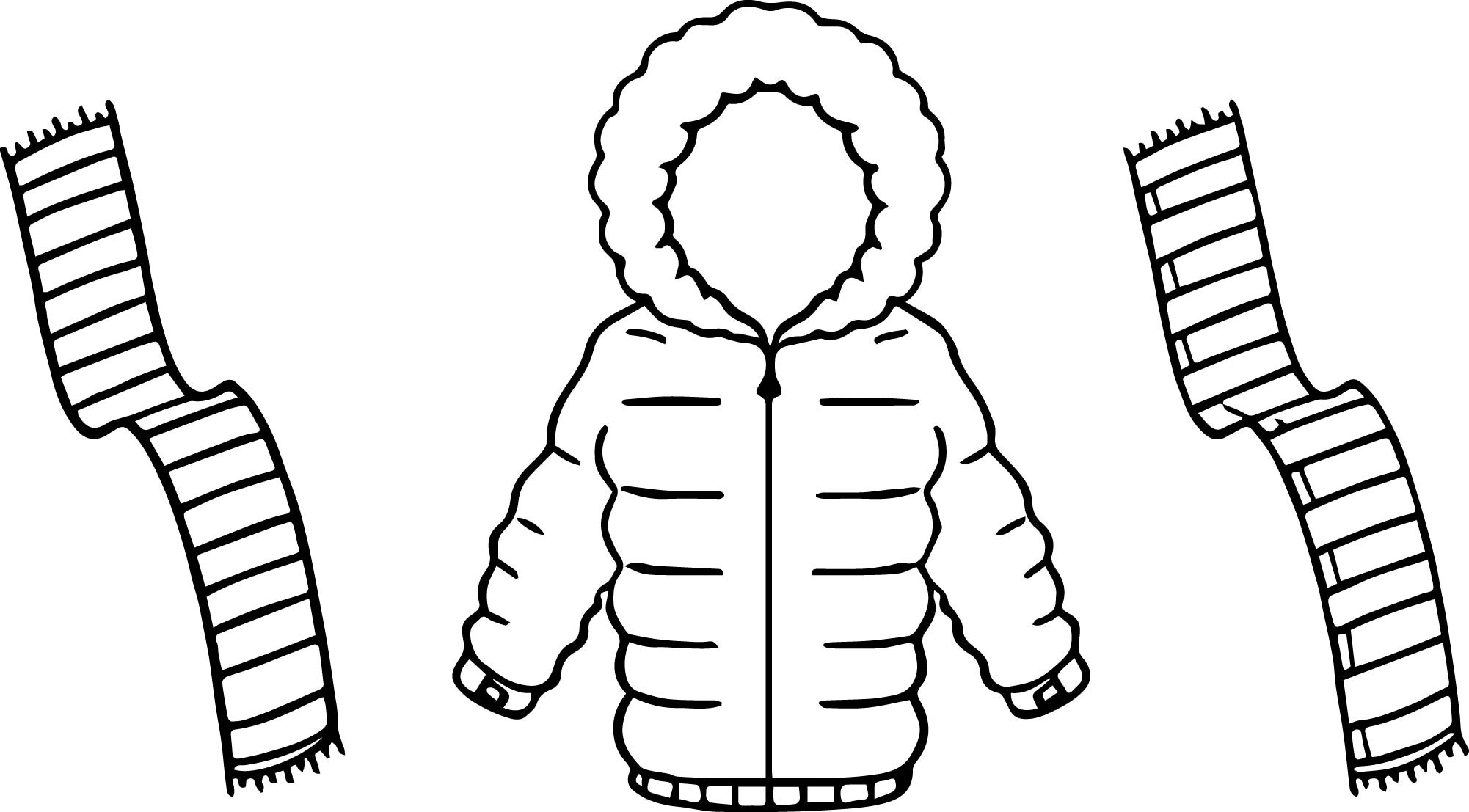 2002x1107 New Coloring Pages Of Winter Scarf