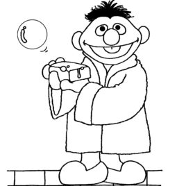 268x268 Sesame Street Bert And Ernie Coloring Pages Az Coloring Pages