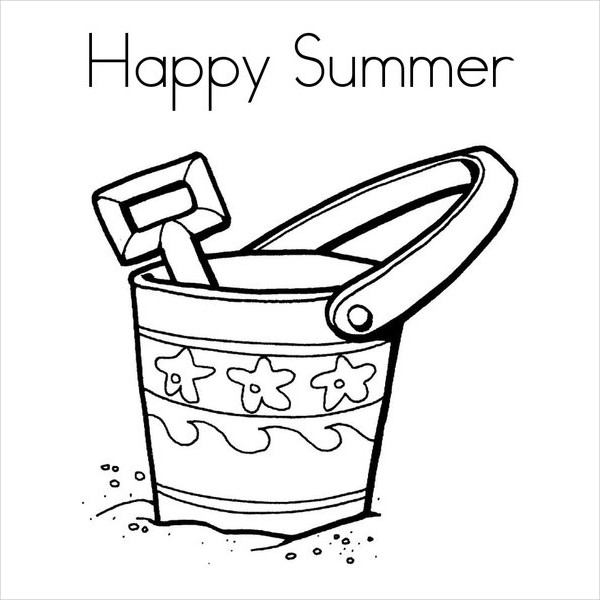 600x600 Summer Coloring Pages