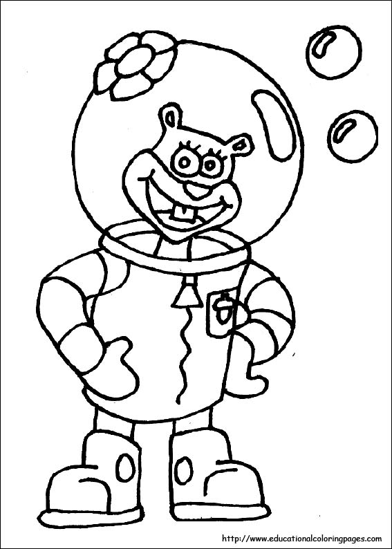 567x794 Spongebob Coloring Pages Free For Kids