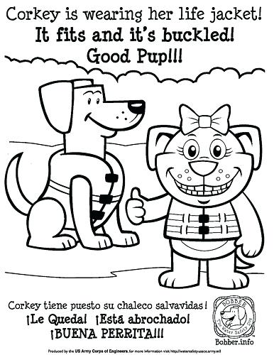 386x500 Water Safety Coloring Pa Nice Water Safety Coloring Pages